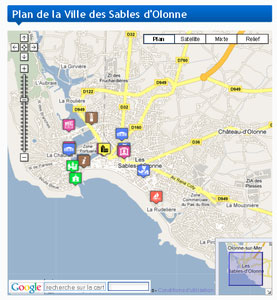 Les Sables google map